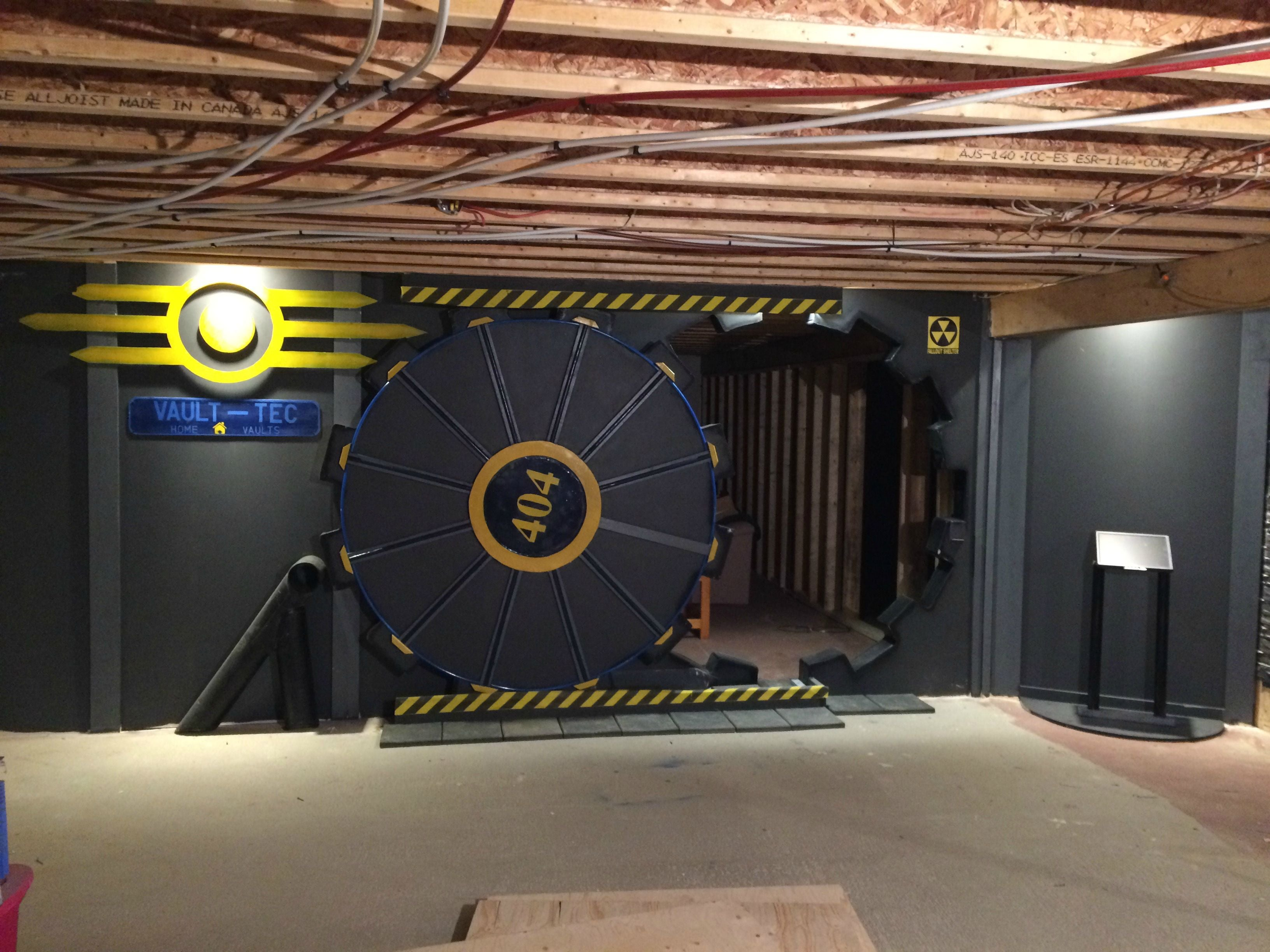 Guy Builds Gaming Room With Fallout Vault-Tec Door