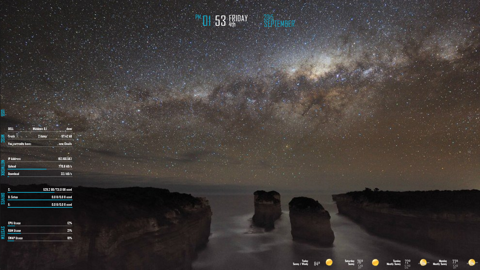 The Long Arm of the Galaxy Desktop