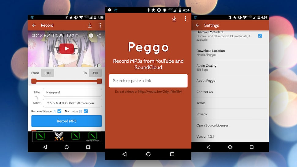 Peggo for Android Converts Soundcloud and YouTube to Audio for Offline Listening