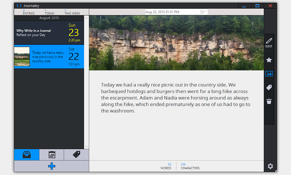 Journaley Is a Simple, Free, Private Journaling App for Windows