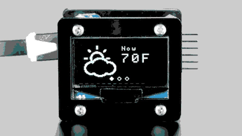 Build Your Own Tiny, Automatically Updating Weather Display