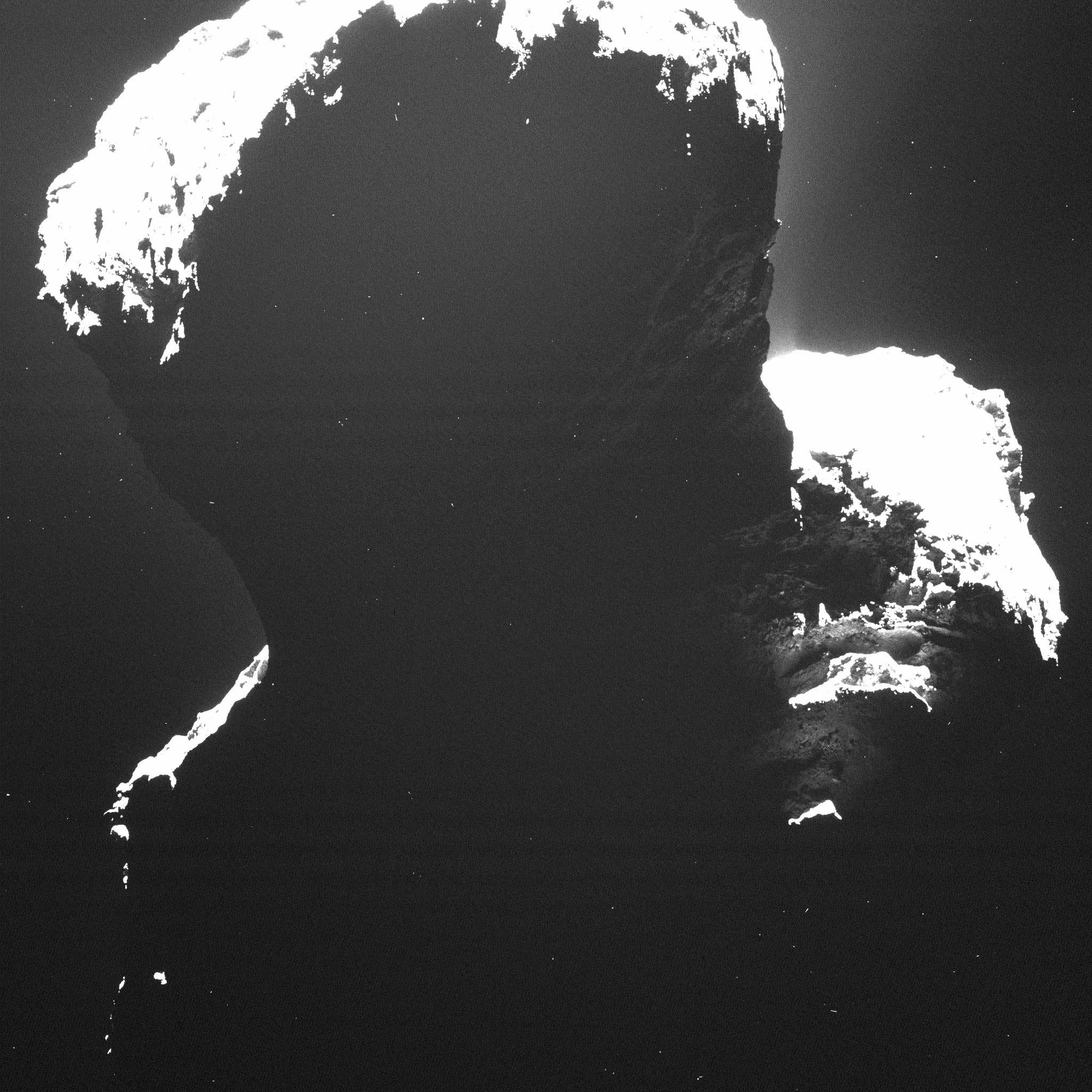Here's Our First Glimpse of the Rosetta Comet's Dark Side