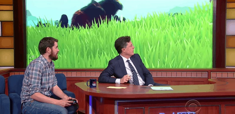 Stephen Colbert Suitably Awed By No Man's Sky
