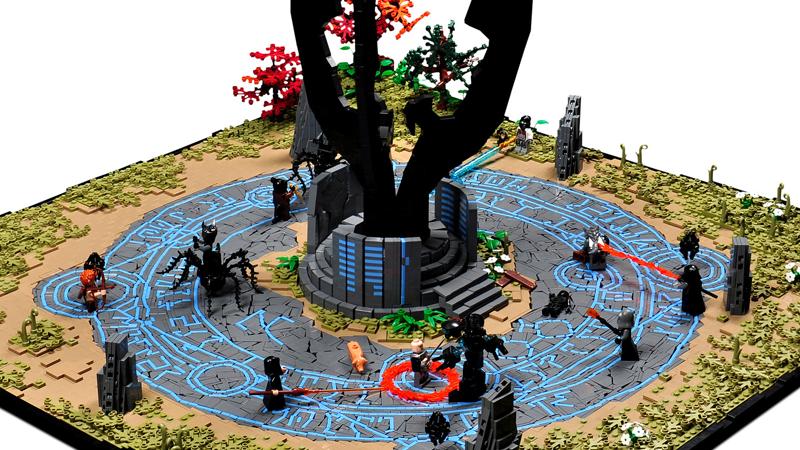 LEGO Fan Pays Tribute To The Elder Scrolls Online Battles