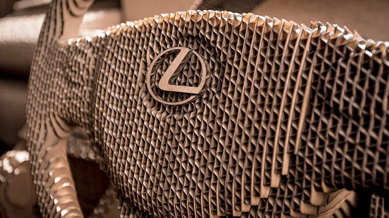 You Can Drive Lexus' Laser-Cut Cardboard Car, But You Probably Shouldn't
