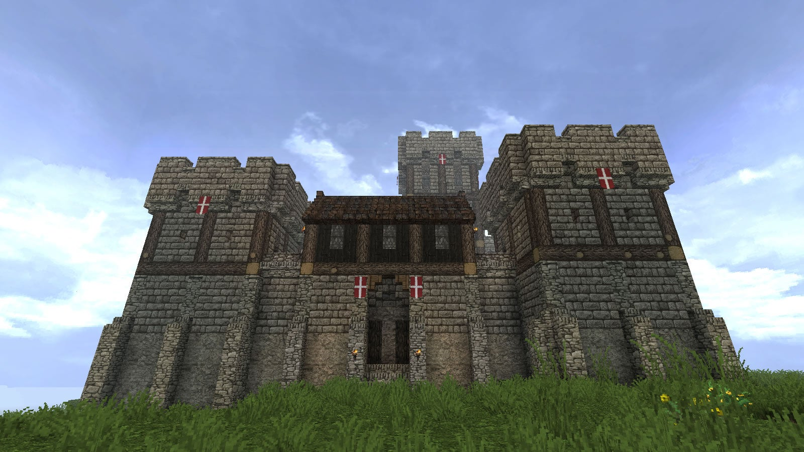 Minecraft player 39 s pretty good at castles kotaku australia for Build a castle house