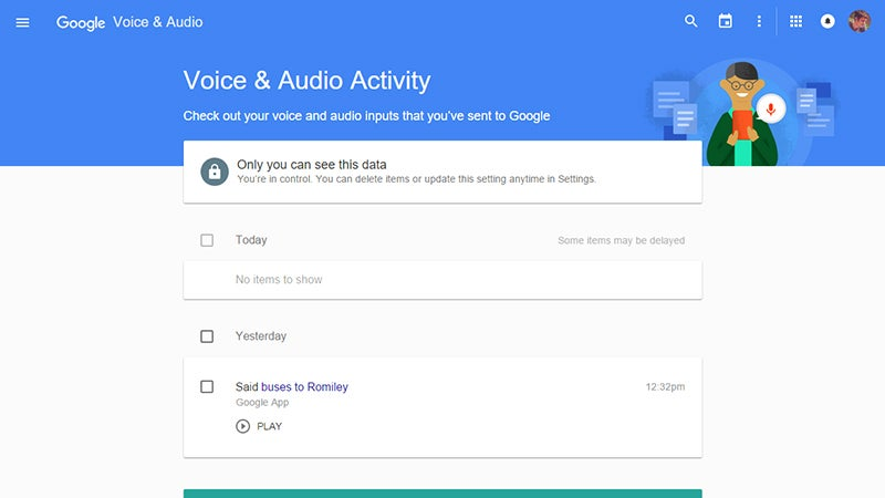 How To Find and Delete Everything You've Ever Said to Google Now