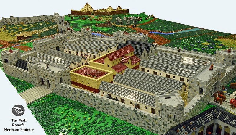 Enthusiasts Created A Giant Roman Empire Display From LEGO
