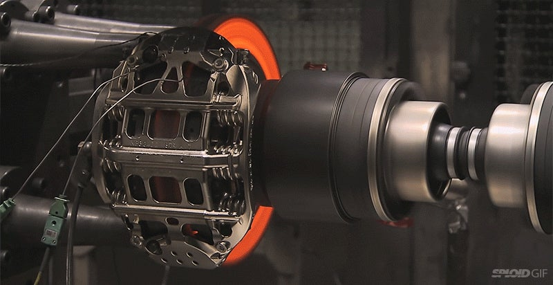 Video: The red hot burn that is testing F1 brakes