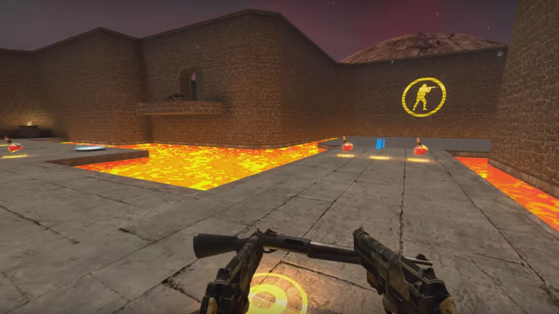 Cool Custom Counter-Strike Map, Inspired By Quake