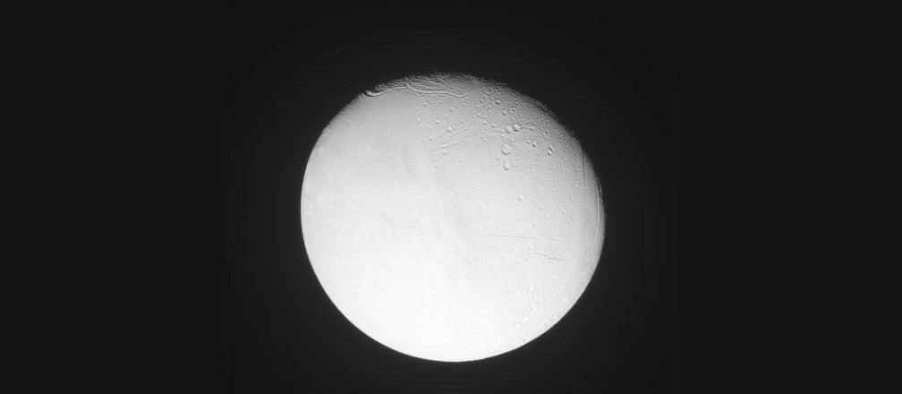 Cassini Reveals Enceladus' North Pole in Glorious Detail