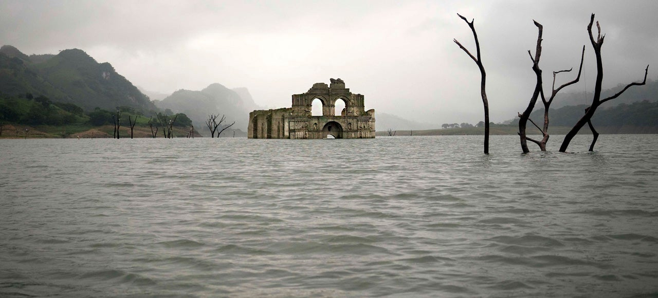 Drought Brings a 16th-Century Mexican Temple to the Surface Again