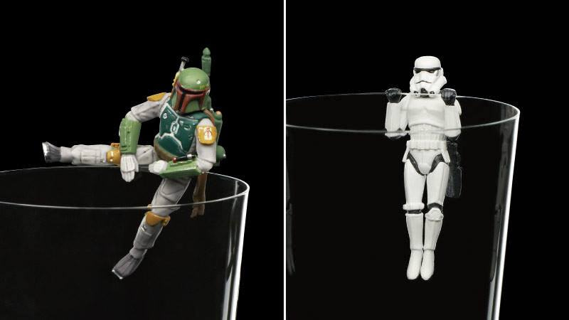 These Star Wars Figurines Just Want to Hang Out on the Side of Your Drinks