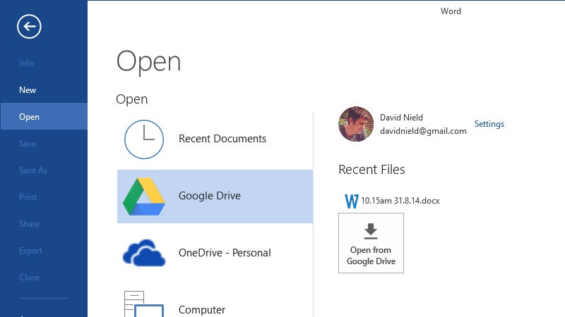 This Plug-In Puts Google Drive Inside Microsoft Office