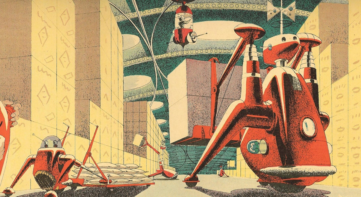 This 1950s Ad Showed the Sleek Future of Shipping Automation