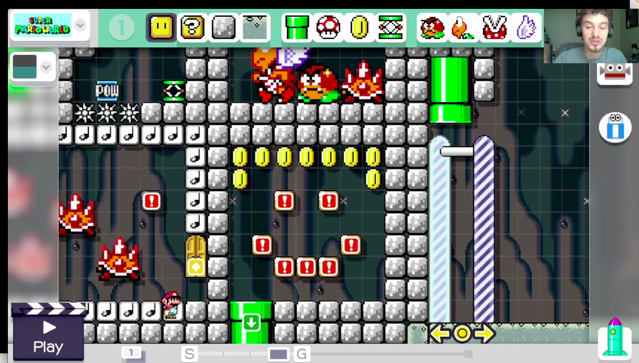 Losing My Mind In A Mario Maker Level Designed To Troll Me