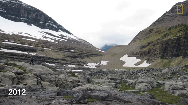 Before and after photos show how glaciers have totally melted over the years
