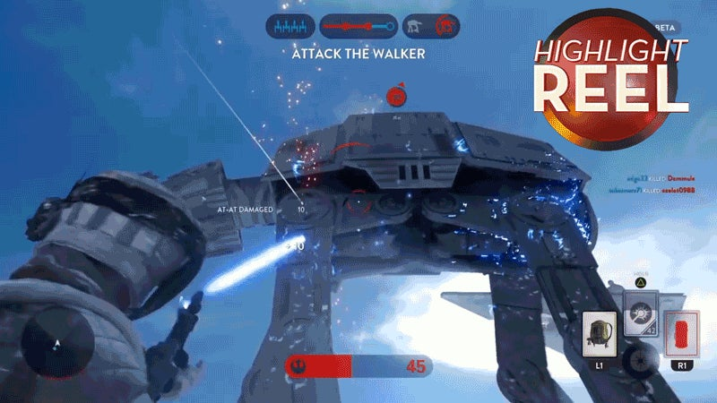 Rebel Punches AT-AT To Death