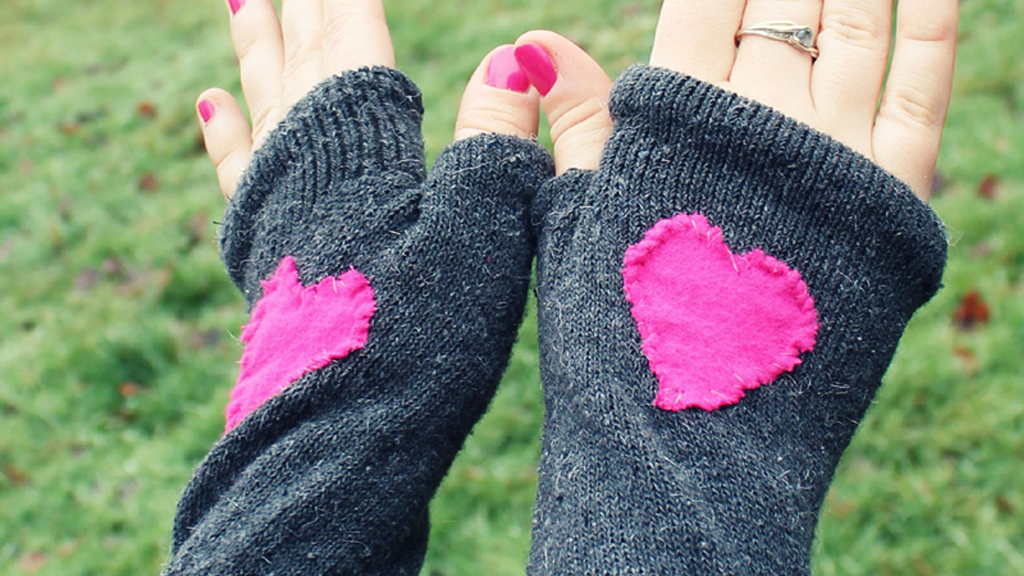 Turn a Pair of Socks Into Fingerless Gloves