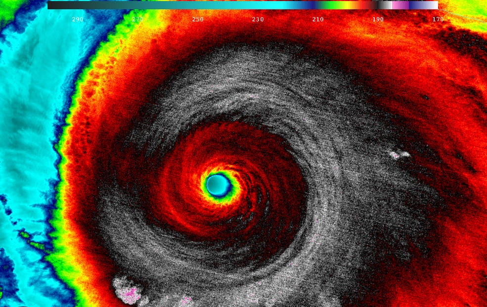 This is What the Strongest Tropical Cyclone Ever Recorded Looked Like From Space