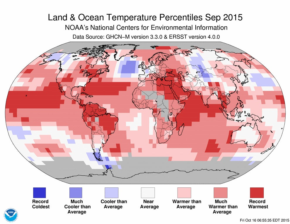 Last Month Was the Hottest September in Recorded History