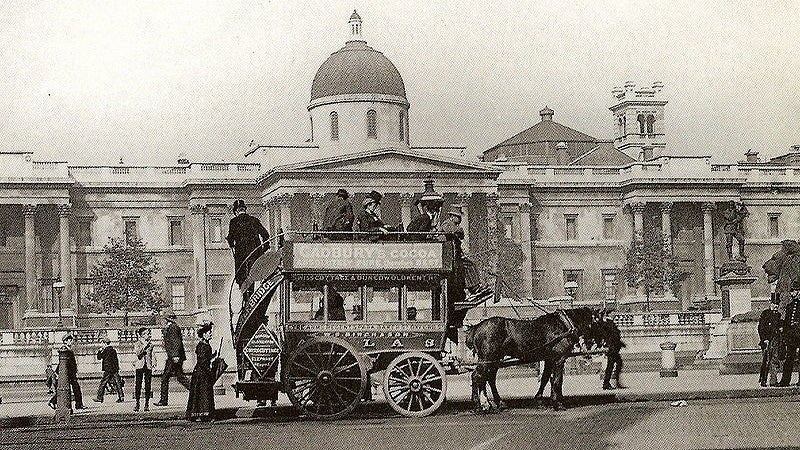 The World's First Bus Service Was Pulled By Horses