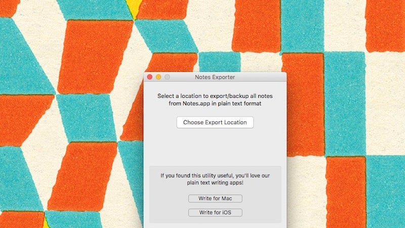 Notes Exporter Backs Up All Your Apple Notes in Plain Text