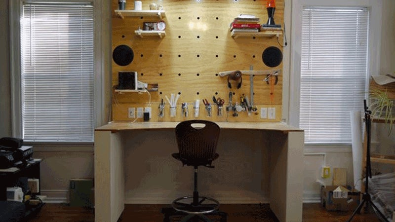 Build a Transforming Workbench, Desk, and Storage Unit
