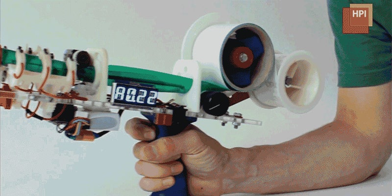 An Upgraded Tape Gun Lets You Quickly Build Life-Size Wireframe Prototypes