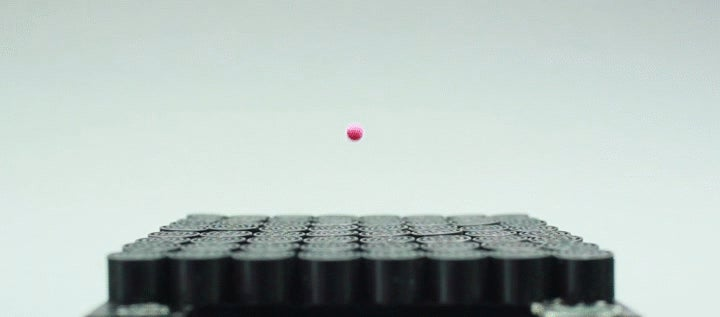 Watch a Sonic Tractor Beam Levitate a Helpless Ball