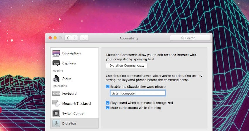 Start Dictation on a Mac with a Keyword Phrase