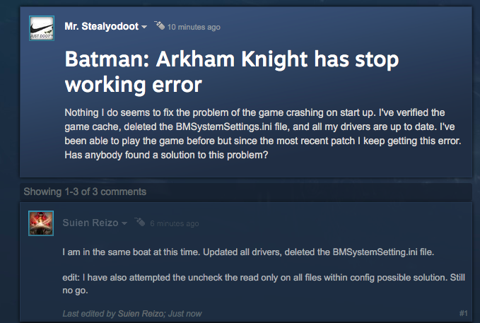 Batman: Arkham Knight's PC Version Is Far From 'Fixed'