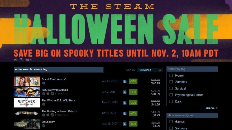The Steam Halloween Sale Is on Now