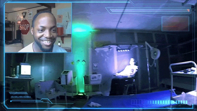Real-Life First-Person Shooter, Controlled Through Chatroulette