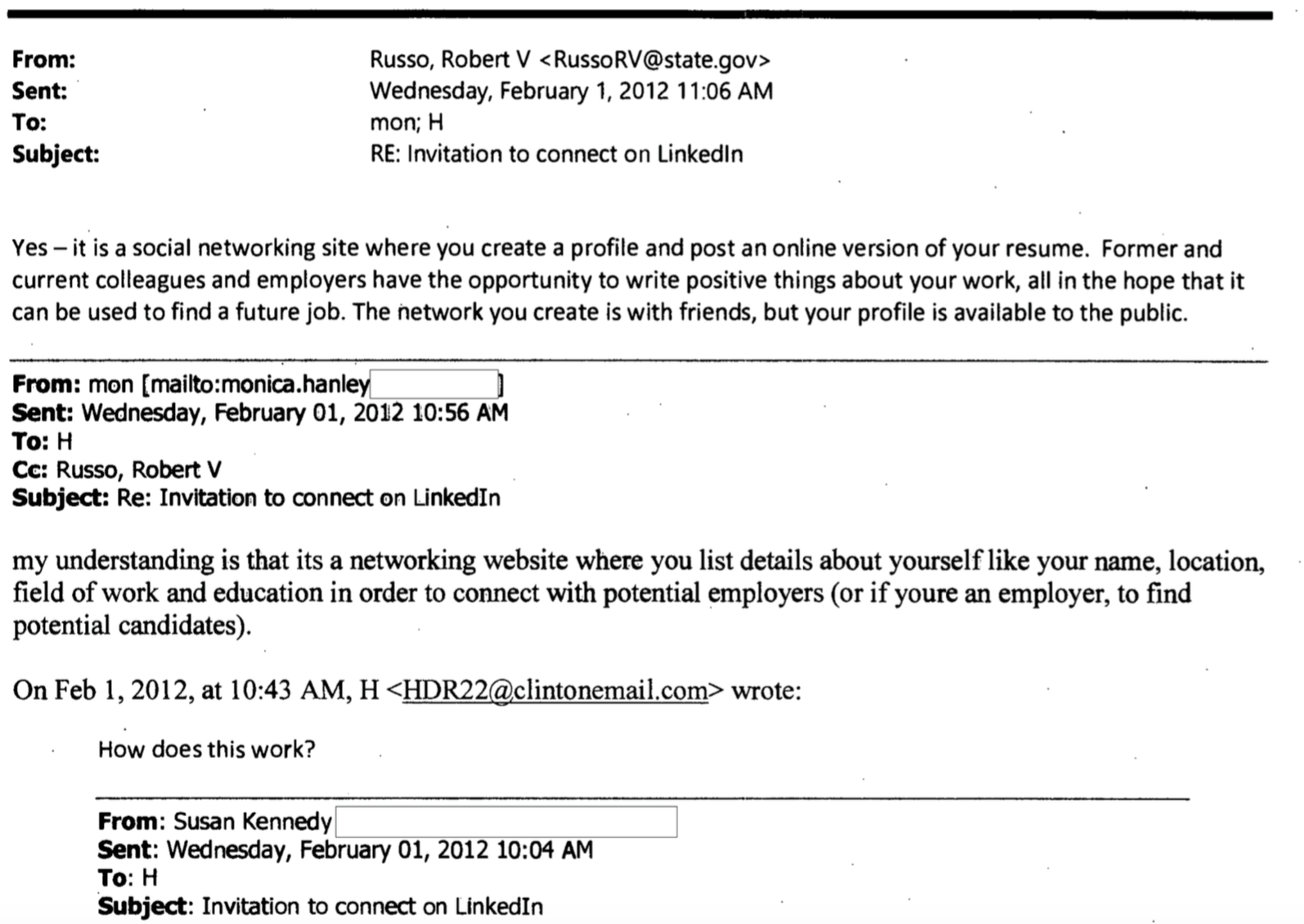 Not Even Hillary Clinton's Secret Email Address Can Escape LinkedIn
