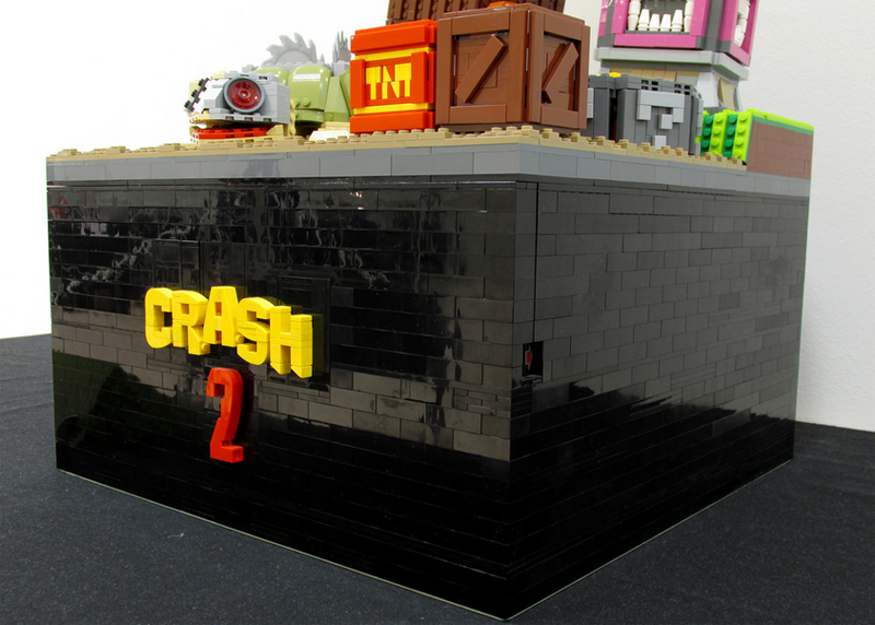 LEGO Diorama Is The Perfect Homage To Crash Bandicoot