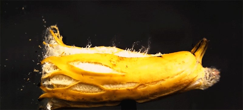 Awesome slow motion footage of bullets piercing random objects
