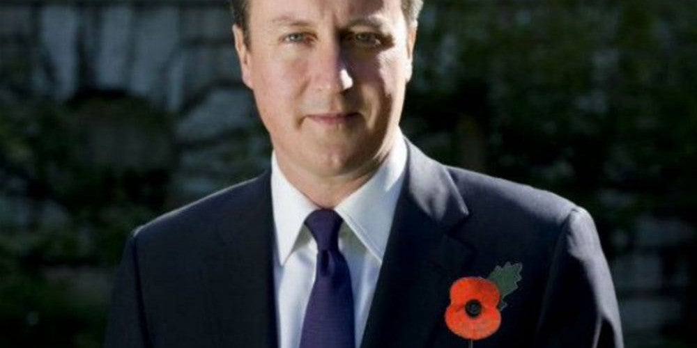 British PM David CameronEmbroiled In Remembrance Scandal Over Photoshopped Image