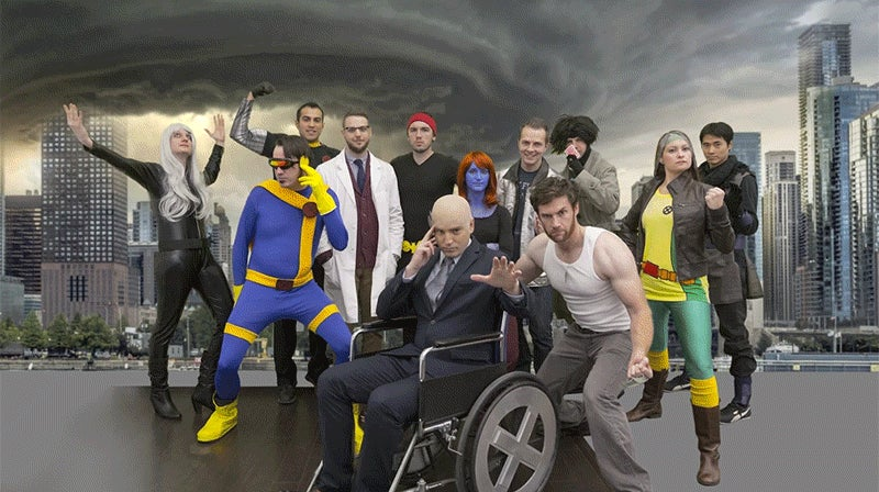 Watch how Photoshop magically transforms Halloween costumes into the real X-Men