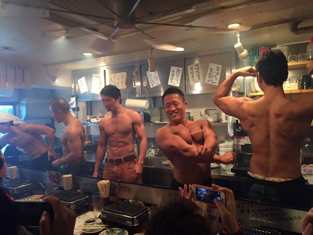 Japan's Macho Restaurant Serves Up Real Beefcakes