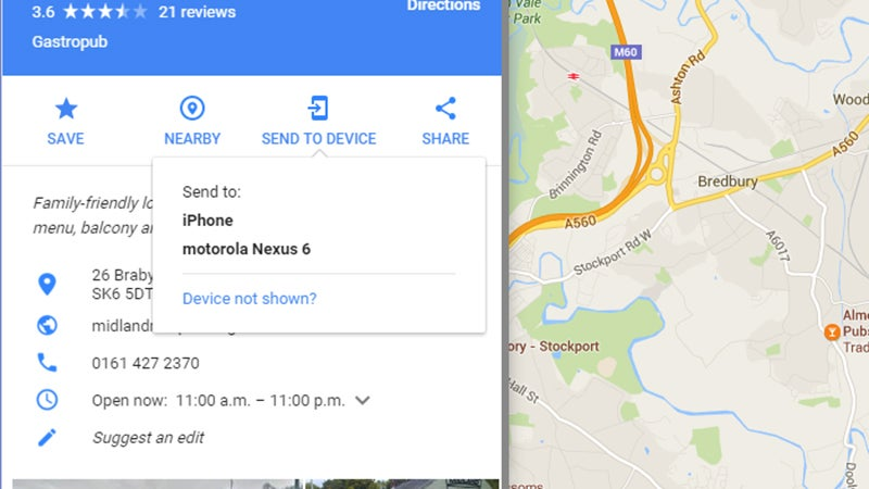 Send Maps From Your Desktop To Your Mobile Device | Gizmodo ... Send Google Maps Directions To Phone on google maps map, google maps thumbnail, google maps zoom in, google maps menu, google maps green pin, google maps overview,