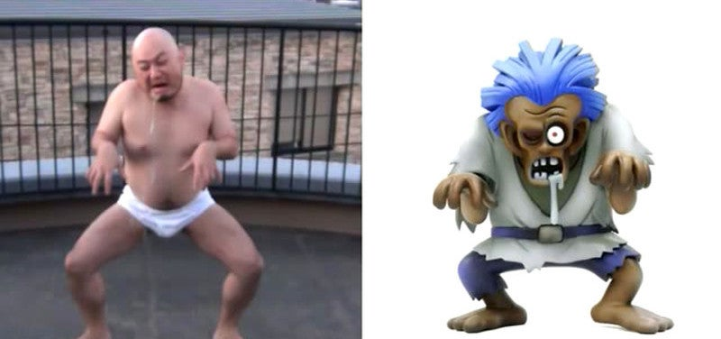 Man Impersonates Dragon Quest Characters in His Underwear