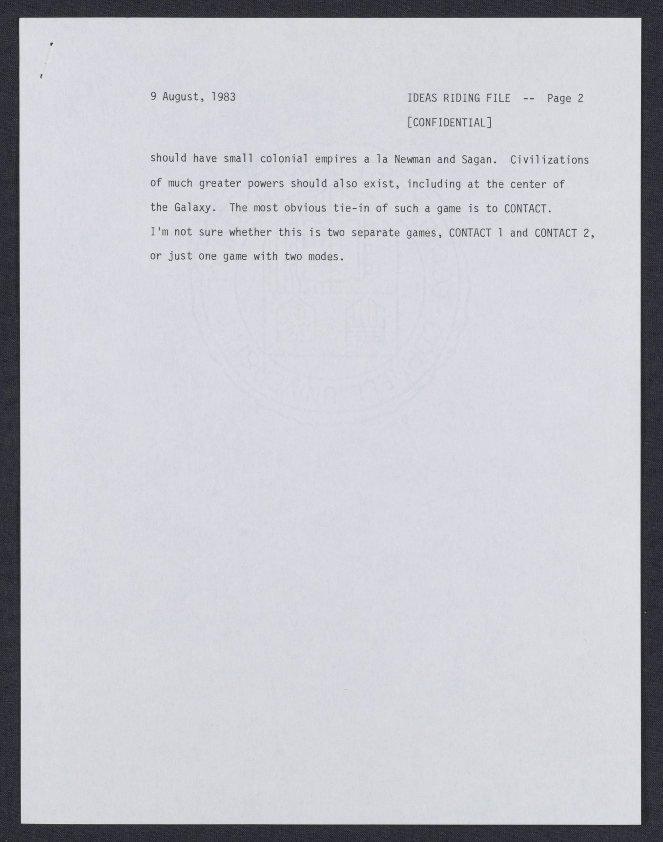 Here's Carl Sagan's Pitch For A Contact Video Game