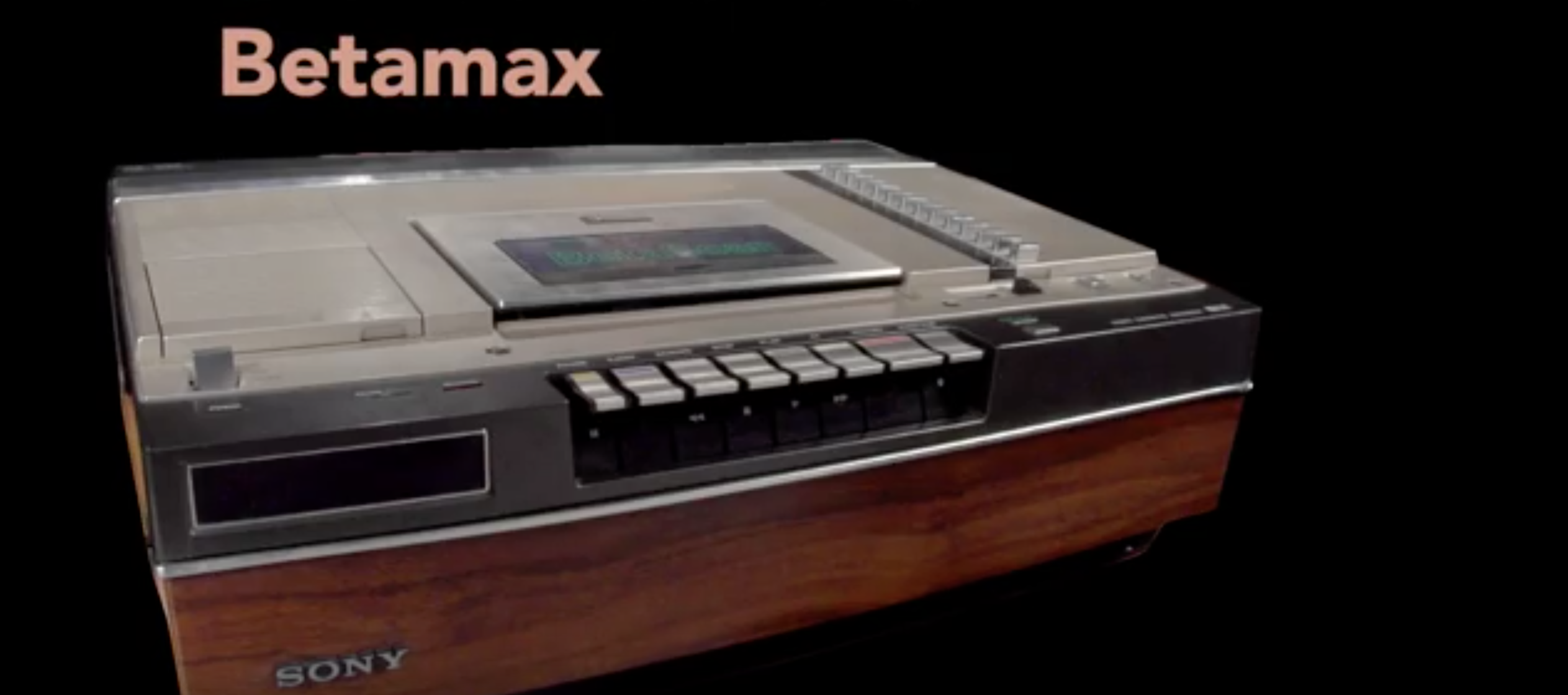 Sony Only Just Got Round to Killing Betamax