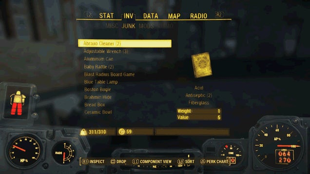 Fallout 4 Has A Ton of Junk, And It's Stressing Me Out