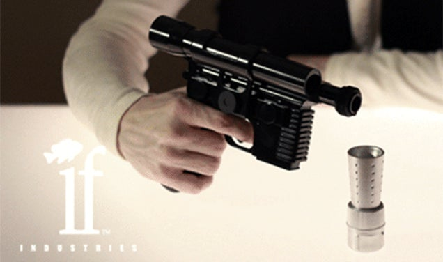Take the First Shot With a Han Solo Blaster Flask