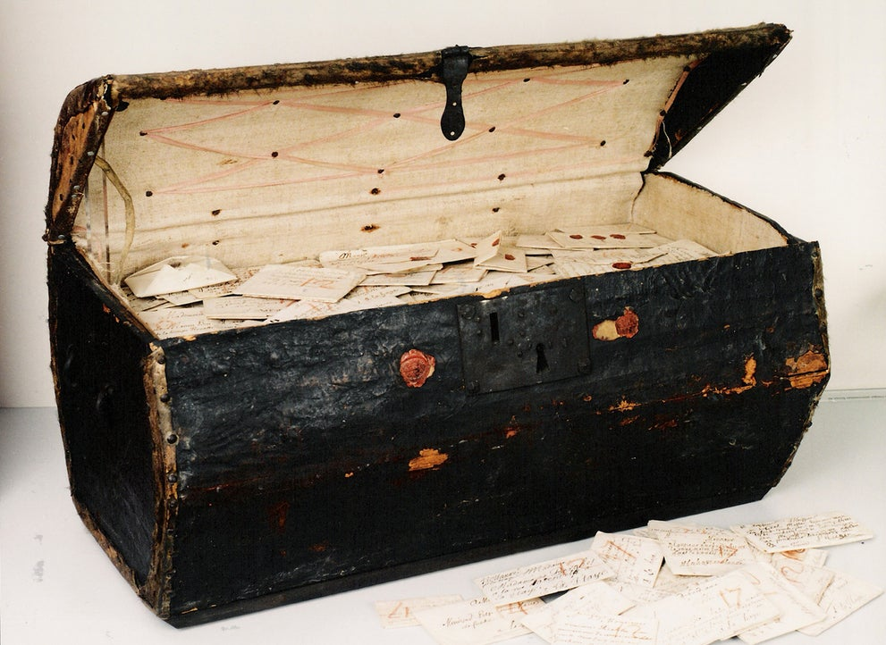 This Rediscovered Leather Trunk Contains Thousands of Letters From the 17th Century