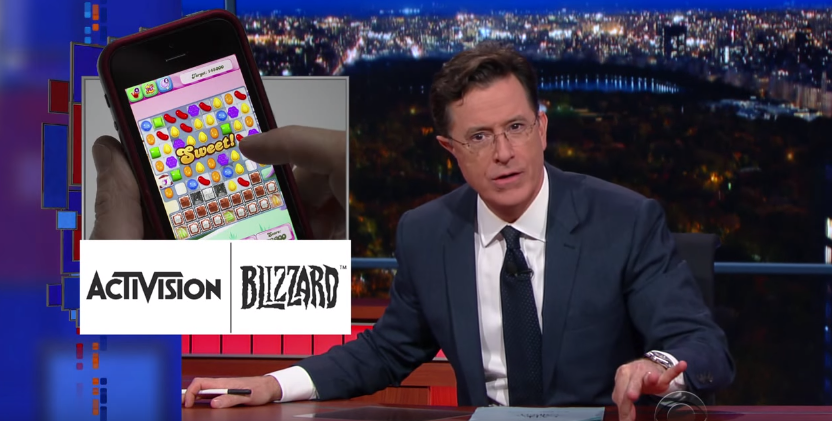 Stephen Colbert Explains The 'Real' Reason Activision Bought Candy Crush