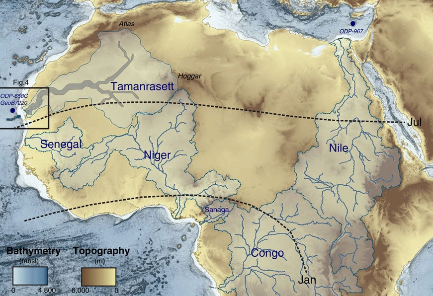 A Vast River Network Once Crisscrossed the Sahara