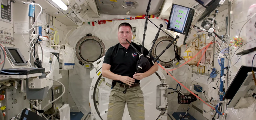 Watch Astronaut Kjell Lindgren Play 'Amazing Grace' in Space — With Bagpipes!